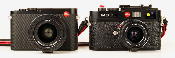 Leica Q - compared to M9, front