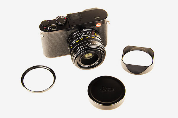 Leica Q - lens trim ring, shade and cap