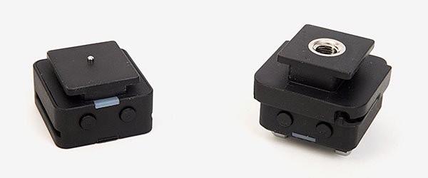 Bottom view of the FlashQ trigger and receiver
