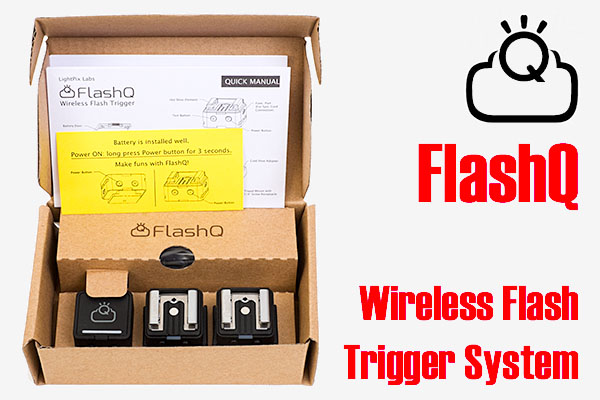 FlashQ 'Kit F+' flash trigger system packaging