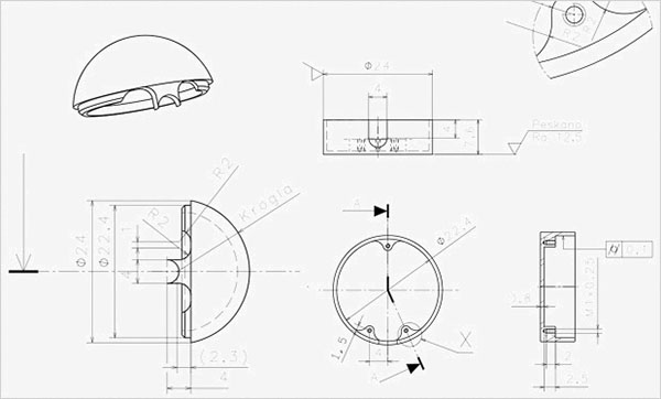 Design drawing of the Lumu hardware