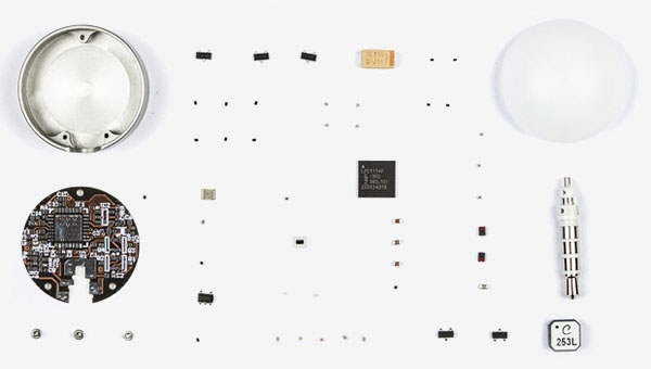 Exploded view of the Lumu hardware