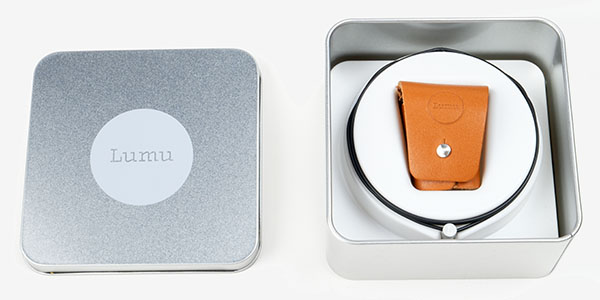 Lumu light meter as packaged