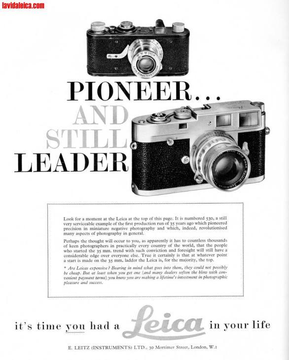 Vintage Leica Ad (English, 1961)