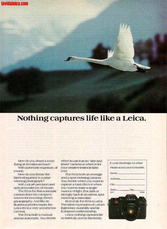 Vintage Leica Ad (English, 1978)