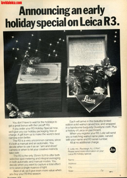 Vintage Leica Ad (English, 1978)