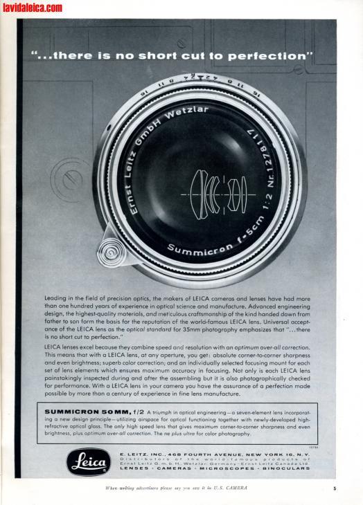 Vintage Leica Ad (English, 1956)
