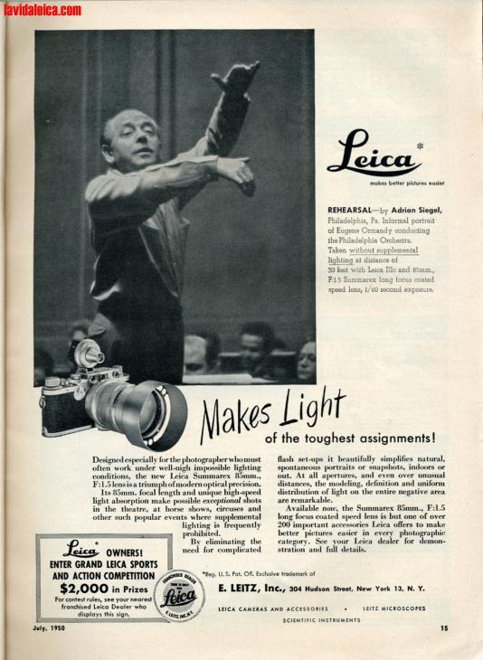 Vintage Leica Ad (English, 1950)