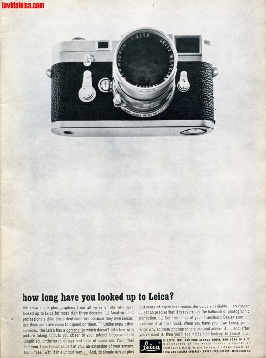 Vintage Leica Ad (English, 1963)