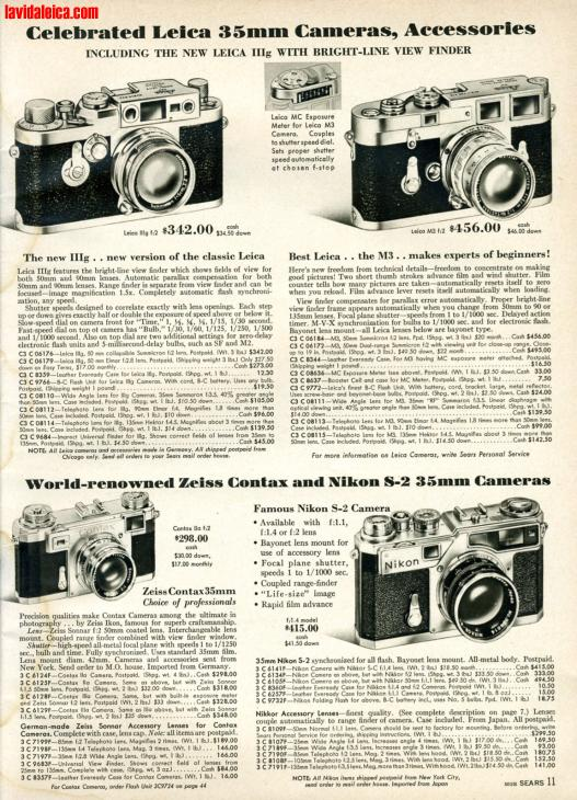 Vintage Leica Ad (English, 1958)