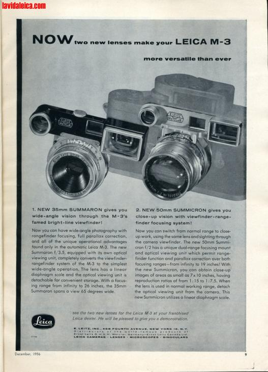 Vintage Leica Ad (English, 1956)