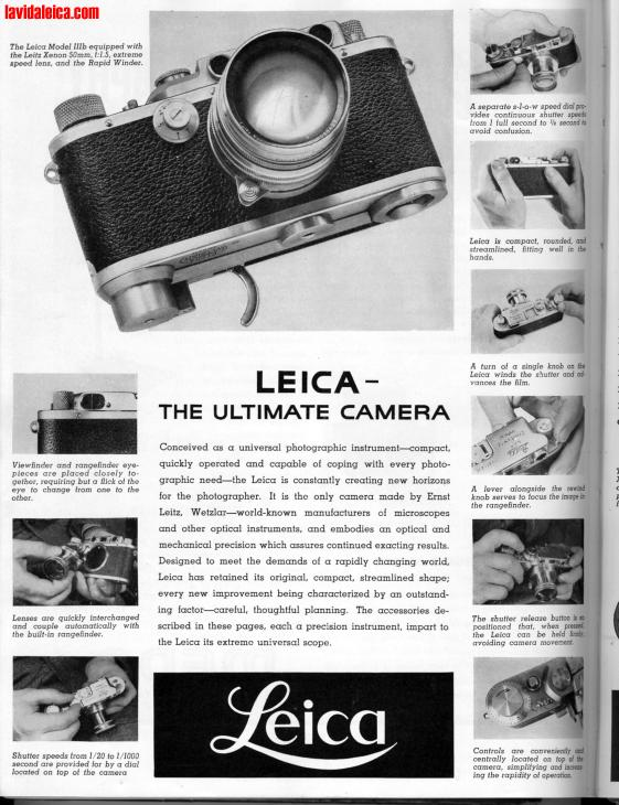 Vintage Leica Ad (English, 1938)