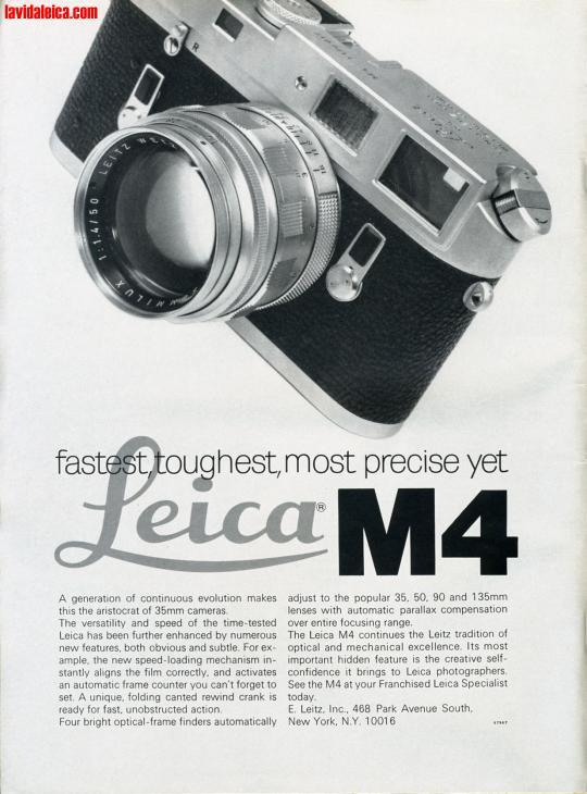 Vintage Leica Ad (English, 1968)