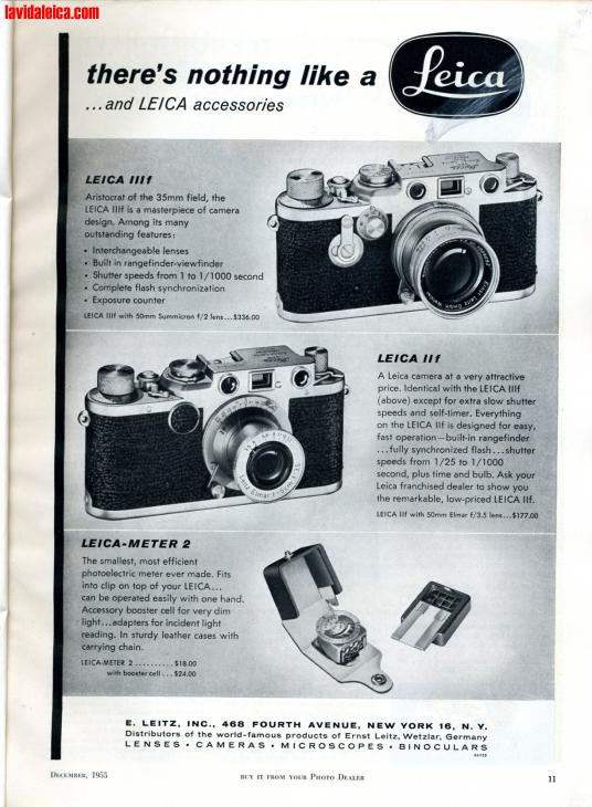 Vintage Leica Ad (English, 1955)