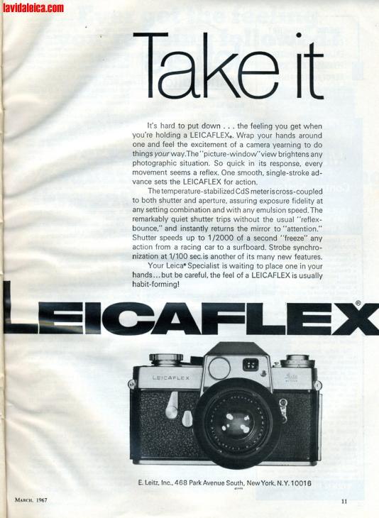Vintage Leica Ad (English, 1967)