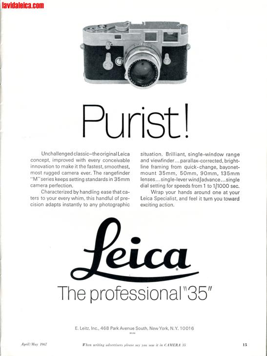 Vintage Leica Ad (English, 1967)