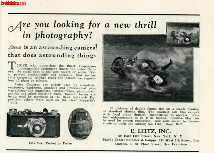 Vintage Leica Ad (English, 1930)