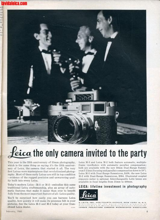 Vintage Leica Ad (English, 1960)