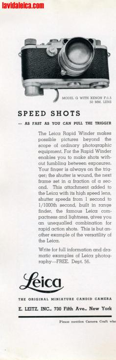 Vintage Leica Ad (English, 1937)