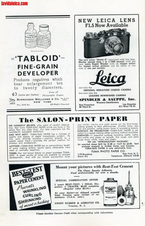 Vintage Leica Ad (English, 1937)