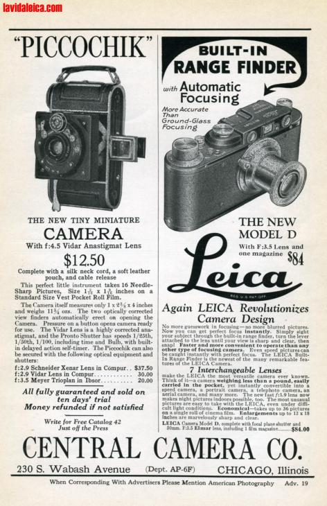 Vintage Leica Ad (English, 1932)