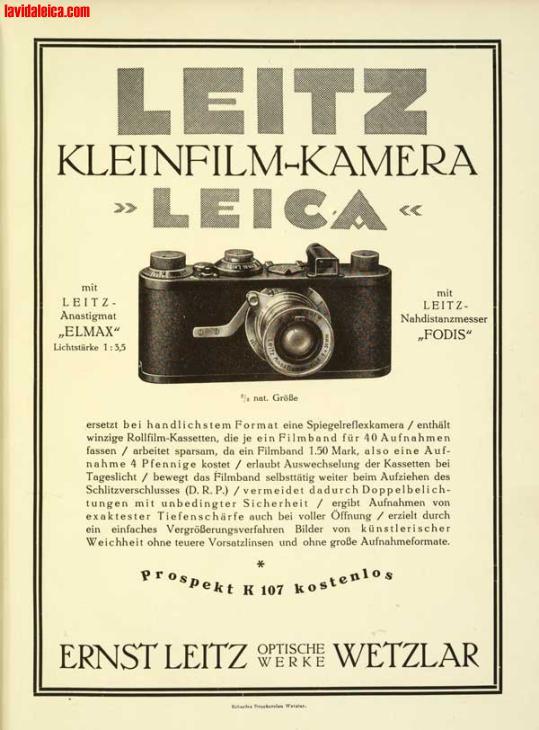 Vintage Leica Ad (German, 1925)