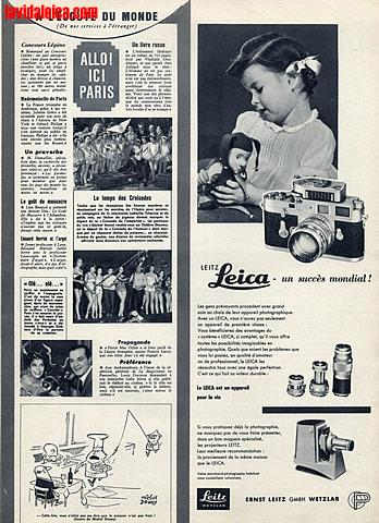 Vintage Leica Ad (French, 1957)