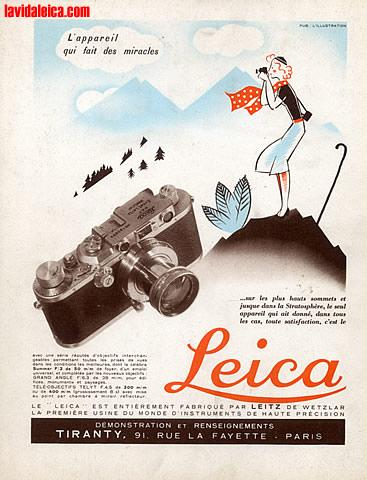 Vintage Leica Ad (French, 1937)