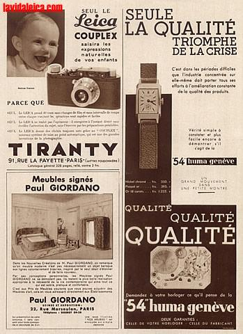 Vintage Leica Ad (French, 1932)