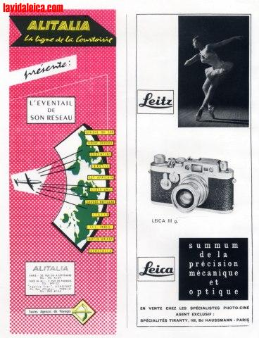 Vintage Leica Ad (French, 1958)