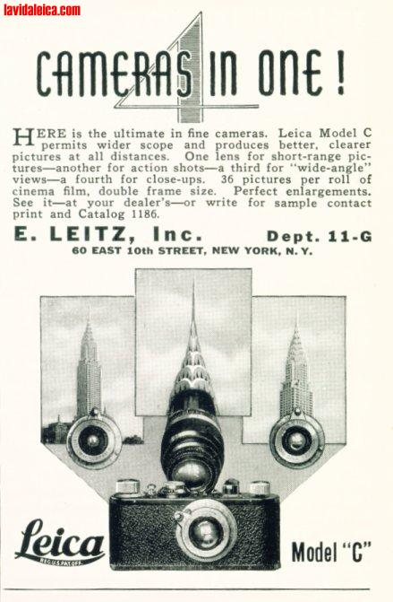 Vintage Leica Ad (English, 1931)
