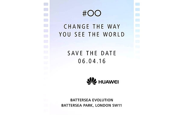 Leica/Huawei event invite for London on April 6, 2016