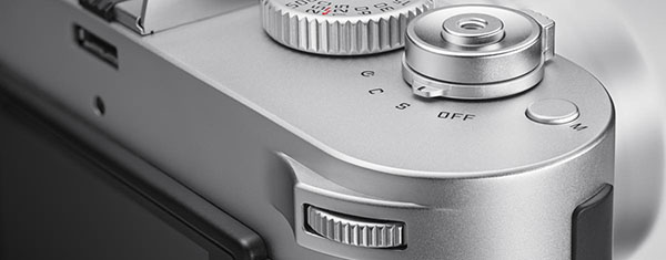 Leica M-P silver right corner